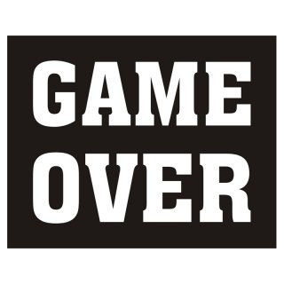 Nálepka, Game over