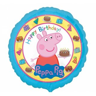 "Foliový balón "" Prasátko Peppa - Happy Birthday"", 45 cm"