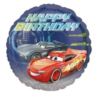 "Foliový balón "" Cars - Happy Birthday"" - 43cm"